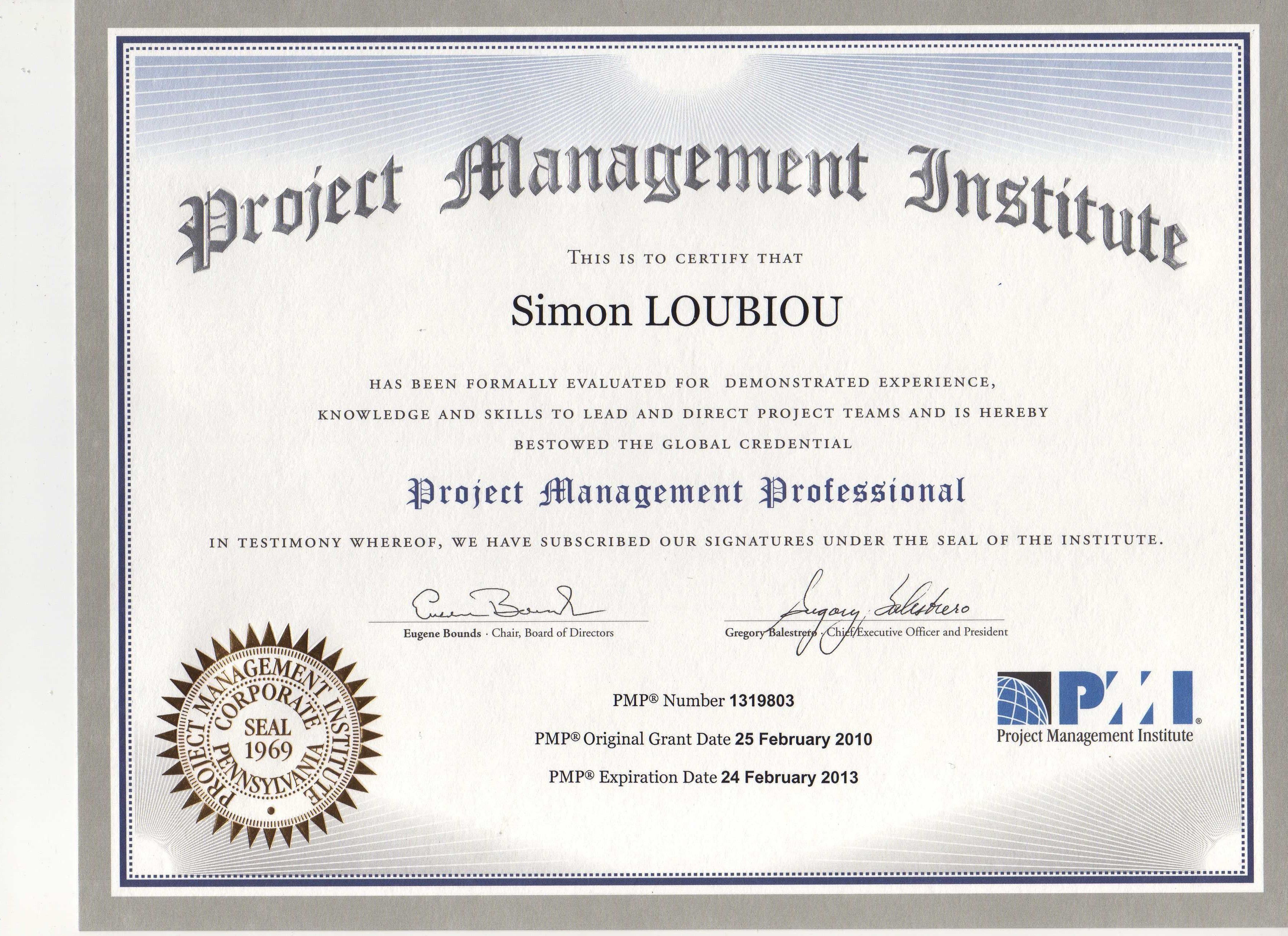 diplome gestion de projet
